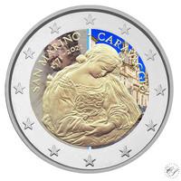 San Marino 2 € 2021 Caravaggio, väritetty (#1)