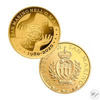 San Marino 20 € 2020 WHO 40 vuotta KULTA