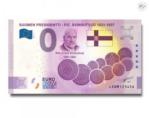 Suomi 0 € 2021 P.E. Svinhufvud - Suomen Presidentit Special Edition UNC