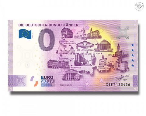 Saksa 0 € 2021 Osavaltiot & Thüringen UNC