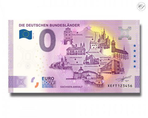 Saksa 0 € 2021 Osavaltiot & Sachsen-Anhalt UNC