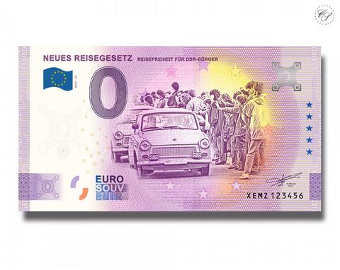 Saksa 0 € 2021 Uusi Matkalaki UNC
