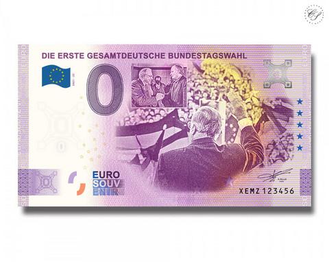 Saksa 0 € 2021 Ensimmäiset liittovaltion vaalit UNC
