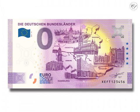 Saksa 0 € 2021 Osavaltiot & Hampuri UNC