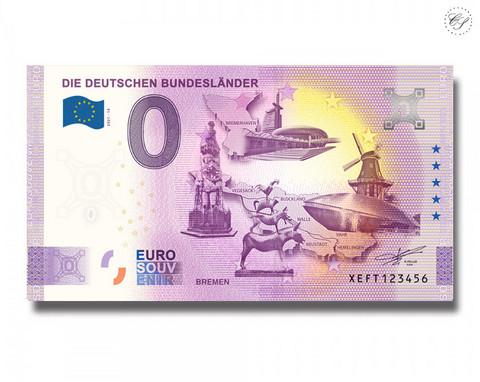 Saksa 0 € 2021 Osavaltiot & Bremen UNC