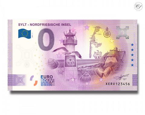 Saksa 0 € 2021 Sylt - Pohjois-Friisin saari -juhlavuosiversio UNC