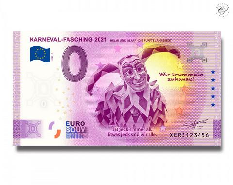 Saksa 0 € 2021 Karnevaali -juhlavuosiversio UNC