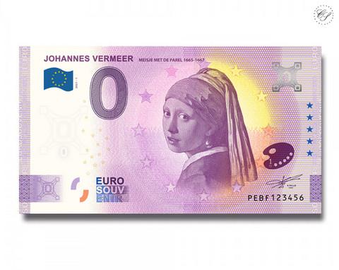 Alankomaat 0 € 2021 Turbaanipäinen tyttö -juhlavuosiversio UNC