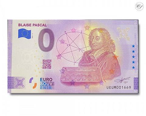 Ranska 0 € 2021 Blaise Pascal -juhlavuosiversio UNC