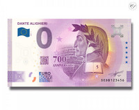 Italia 0 € 2021 Dante Alighieri -juhlavuosiversio UNC