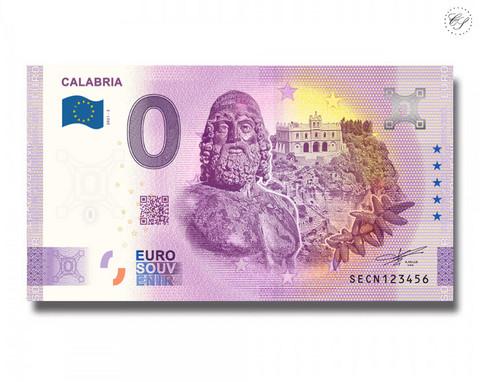Italia 0 € 2021 Calabria -juhlavuosiversio UNC