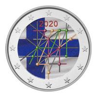 Suomi 2 € 2020 Turun yliopisto 100 v., väritetty (#3)
