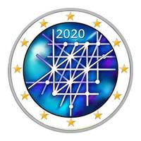 Suomi 2 € 2020 Turun yliopisto 100 v., väritetty (#4)