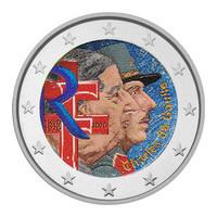 Ranska 2 € 2020 Charles de Gaulle 50 v., väritetty (#1)