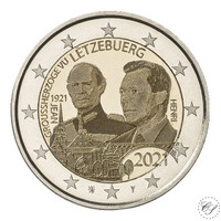 Luxemburg 2 € 2021 Suurherttua Jean 100 v., kuvajäljitelmäversio