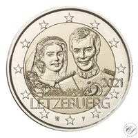 Luxemburg 2 € 2021 Maria Teresan & Henrin häät 40 v., normaali versio