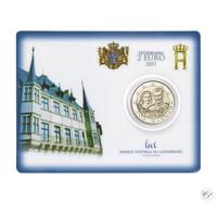 Luxemburg 2 € 2021 Maria Teresan & Henrin häät 40 v., BU coincard