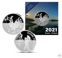 Suomi 20 € 2021 Oppivelvollisuuslaki 100 vuotta Ag, numeroitu