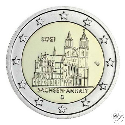 Saksa 2 € 2021 Sachsen-Anhalt & Madgeburg