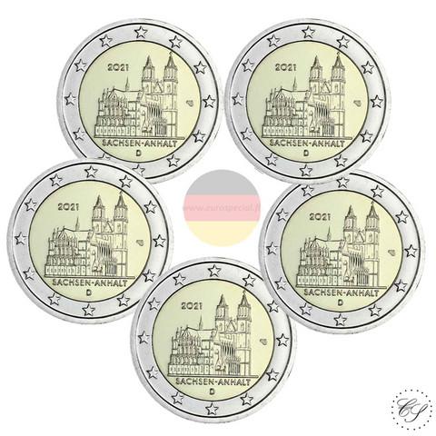 Saksa 2 € 2021 Sachsen-Anhalt & Madgeburg A-J
