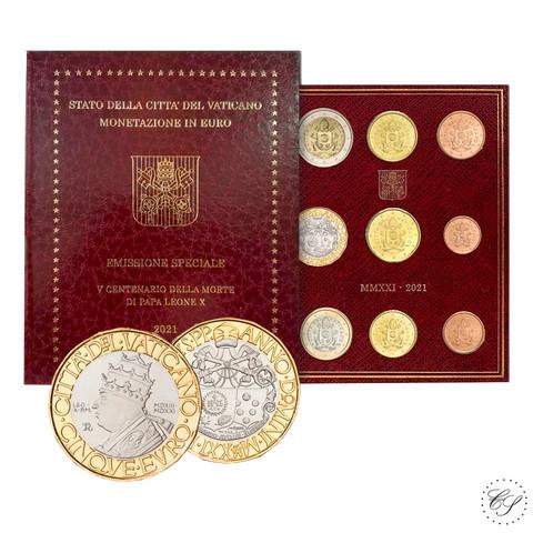 Vatikaani 2021 MMXXI 8,88 € BU Paavi Leo X