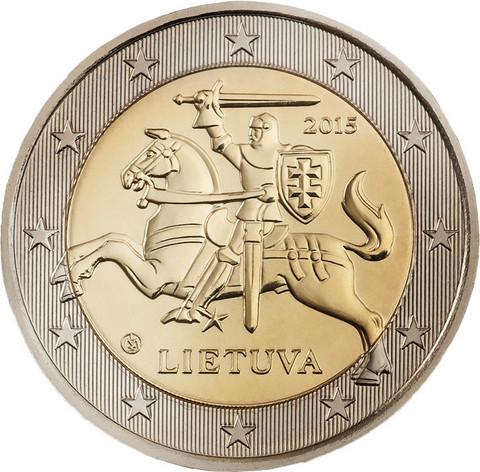Liettua 2 € 2021 Vytis-hevosratsastaja