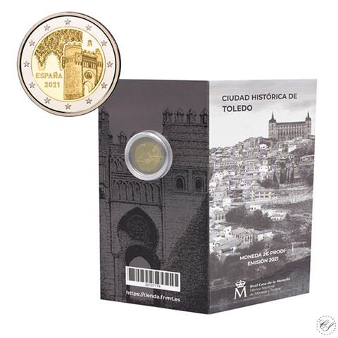 Espanja 2 € 2021 Toledo - Puerta del Sol, Proof