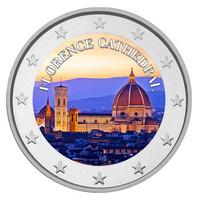 Santa Maria del Fiore 2 € 2021 juhlaraha, väritetty