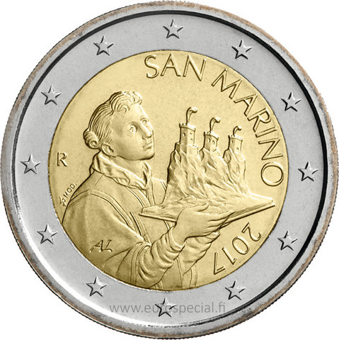 San Marino 2 € 2021 The Portrait of San Marino UNC