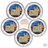 Saksa 2 € 2021 Sachsen-Anhalt & Madgeburg A-J, väritetty (#2)
