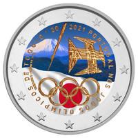 Portugali 2 € 2021 Tokion olympialaiset, väritetty (#2)