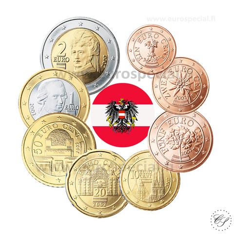Itävalta 1s - 2 € 2021 UNC