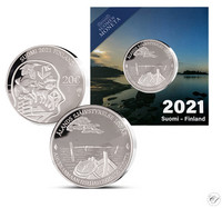 Suomi 20 € 2021 Ahvenanmaan itsehallinto 100 v. Ag, proof