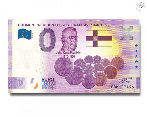 Suomi 0 € 2021 J.K. Paasikivi - Suomen Presidentit Special Edition UNC