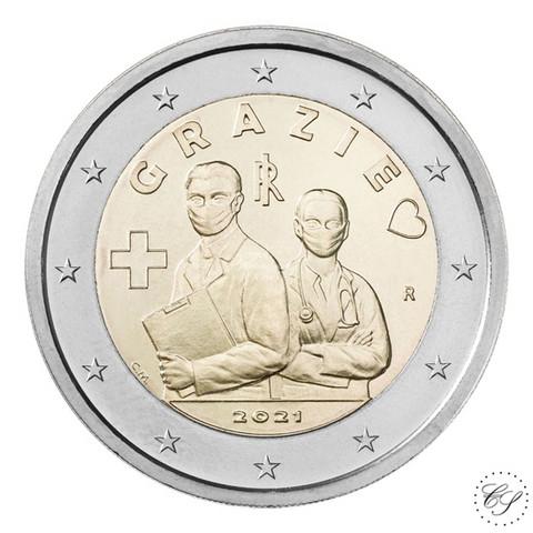 Italia 2 € 2021 Terveydenhuollon ammattilaiset