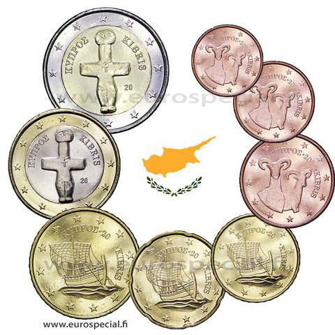 Kypros 1s - 2 € 2021 UNC