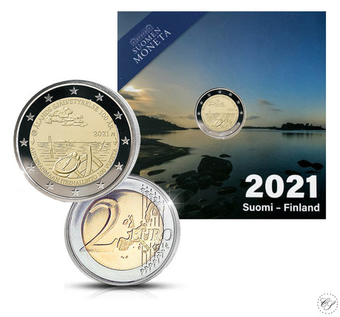 Suomi 2 € 2021 Ahvenanmaan itsehallinto 100 vuotta, Proof