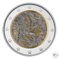 Viro 2 € 2021 Suomalais-ugrialaiset kansat, väritetty (#1)