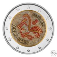 Viro 2 € 2021 Suomalais-ugrialaiset kansat, väritetty (#2)