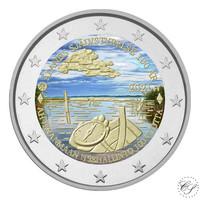 Suomi 2 € 2021 Ahvenanmaan itsehallinto 100 v., väritetty (#2)