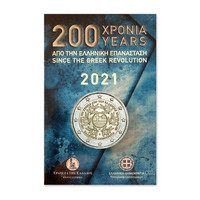 Kreikka 2 € 2021 Vallankumous 200 v. BU coincard