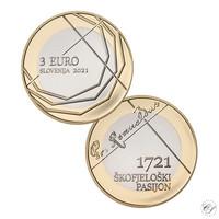 Slovenia 3 € 2021 Skofja Loka Passion