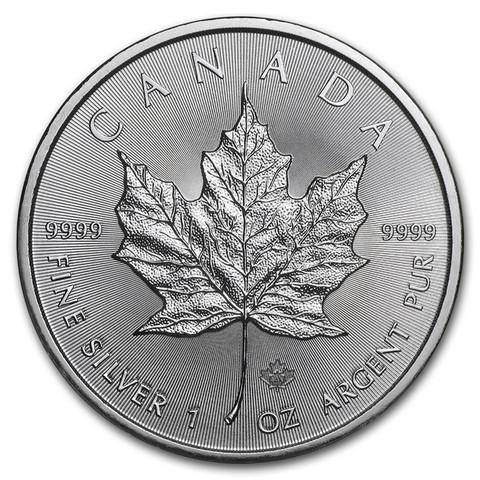 Kanada 2017 Maple Leaf hopearaha 1 oz