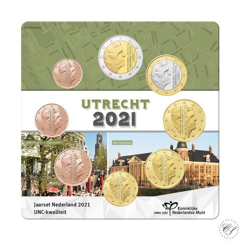 Alankomaat 1s - 2€ 2021 Utrecht UNC rahasarja