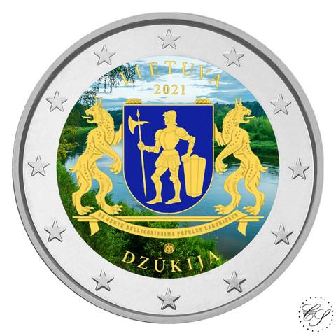 Liettua 2 € 2021 Dzukija, väritetty (#1)