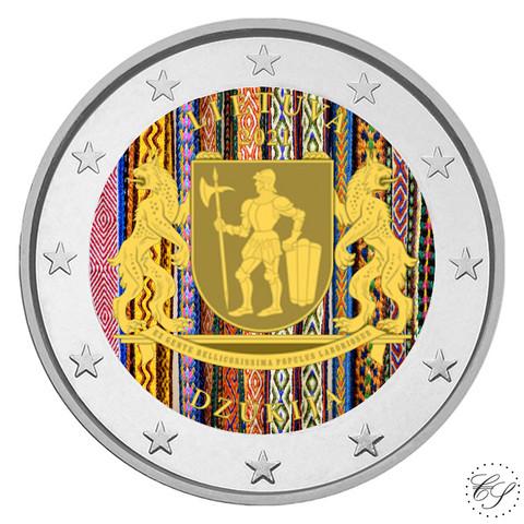 Liettua 2 € 2021 Dzukija, väritetty (#2)