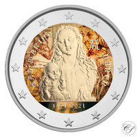 San Marino 2 € 2021 Albrecht Durer BU, väritetty (#1)
