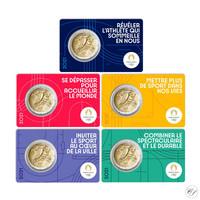 Ranska 5 x 2 € 2021 Pariisin olympialaiset 2024 BU coincard