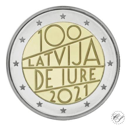 Latvia 2 € 2021 De Iure 100