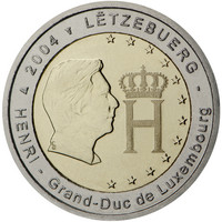 Luxemburg 2 € 2004 Suurherttua Henri & monogrammi
